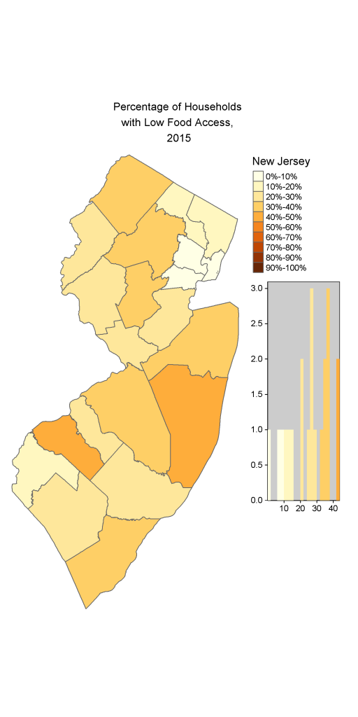 Map of NJ Households with Low Food Access