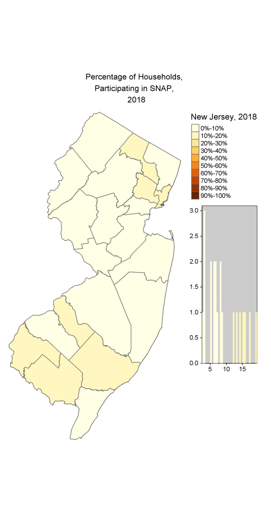 Map of NJ Households participating in SNAP